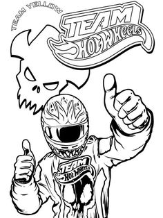 236x314 Team Hot Wheels Coloring Pages