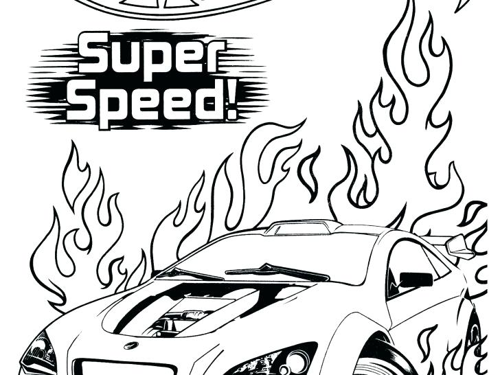 728x546 Hot Wheels Coloring Page