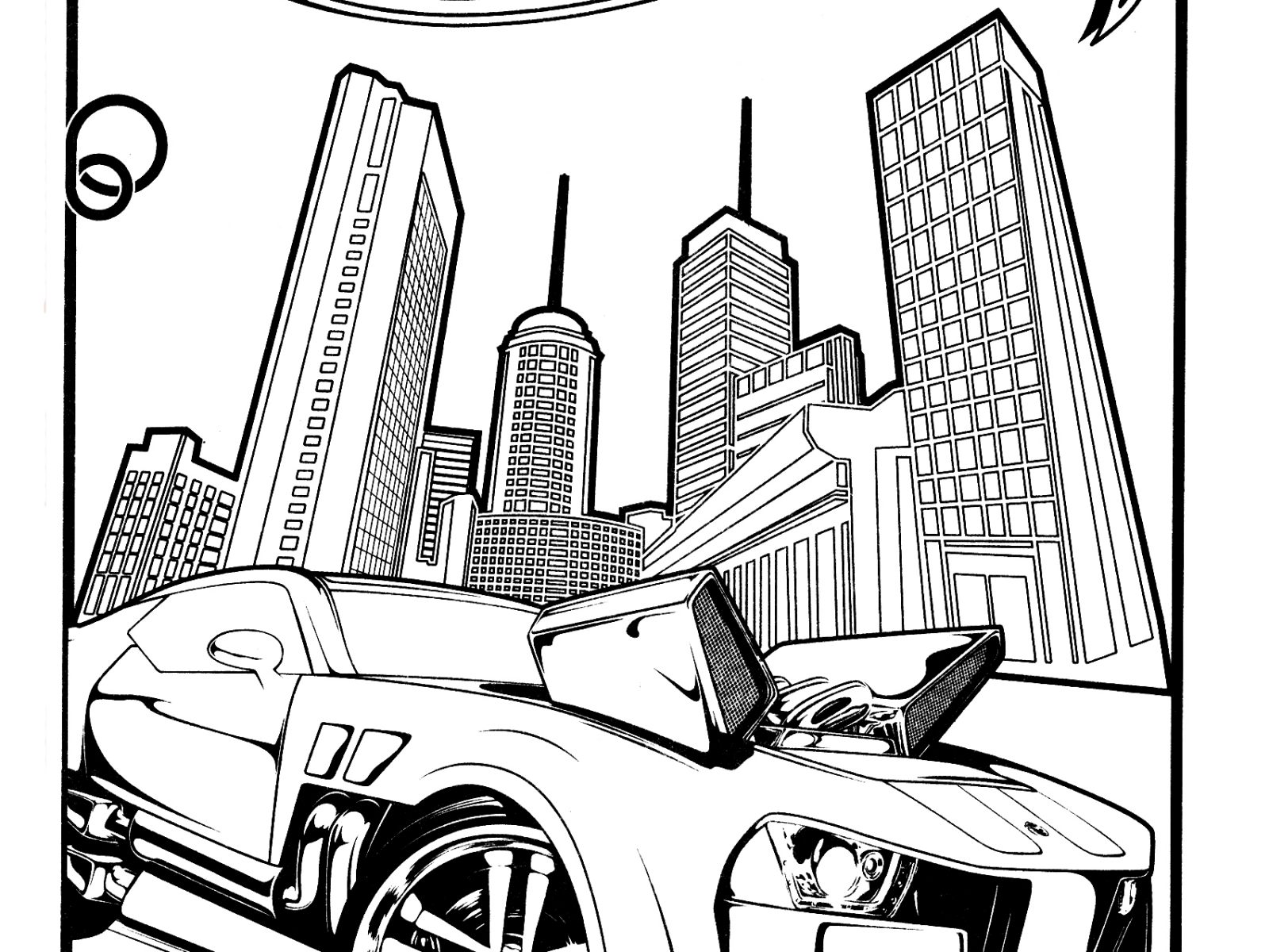 1600x1200 Good Hot Wheels Coloring Pages Image Unknown Resolutions