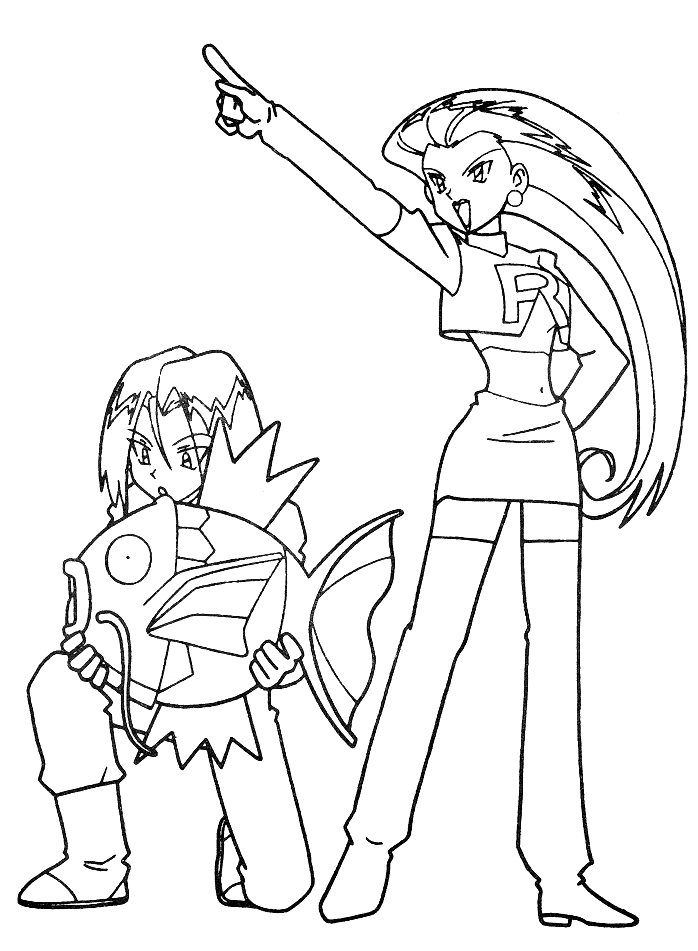 Team Rocket Coloring Page