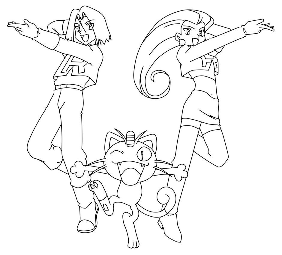 940x850 Image Result For James Team Rocket Coloring Drawing