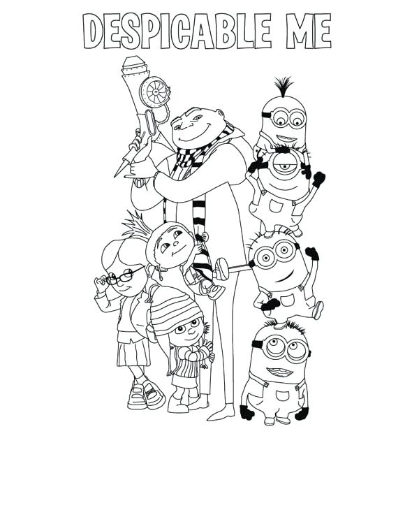 600x750 Dispicable Me Coloring Pages Despicable Me Coloring Pages Fresh