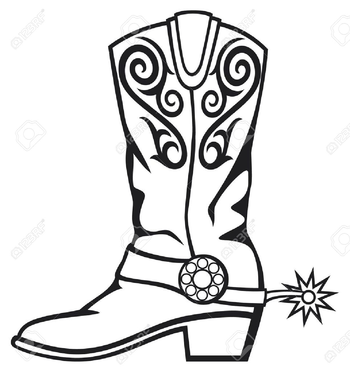 1223x1300 Purple Clipart Cowboy Boot Many Interesting Cliparts