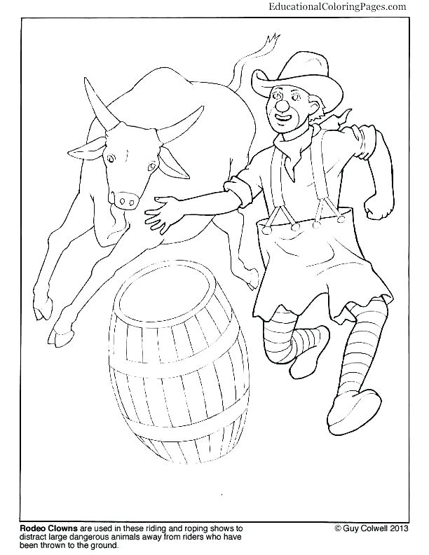 612x792 Rodeo Coloring Pages Cowgirl Doing Circus Horse Coloring Page