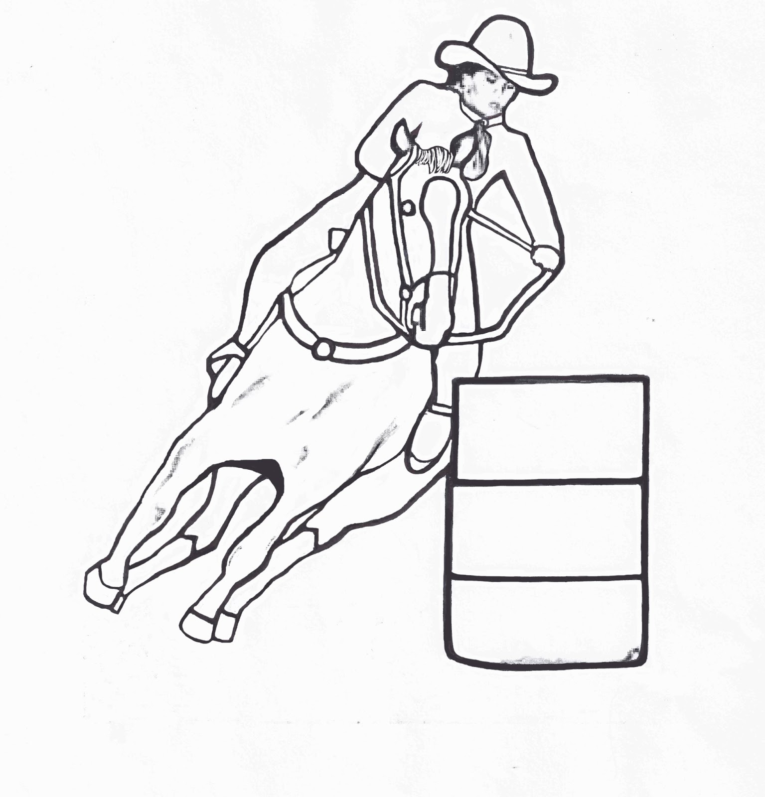 1535x1600 Barrel Racing Coloring Pages, Barrel Racing Coloring Pages