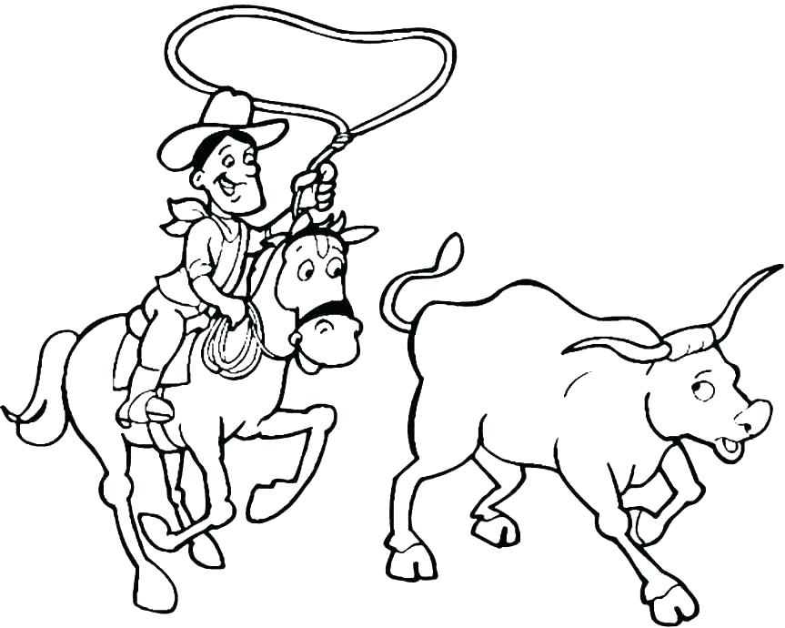 863x690 Houston Rodeo Coloring Pages
