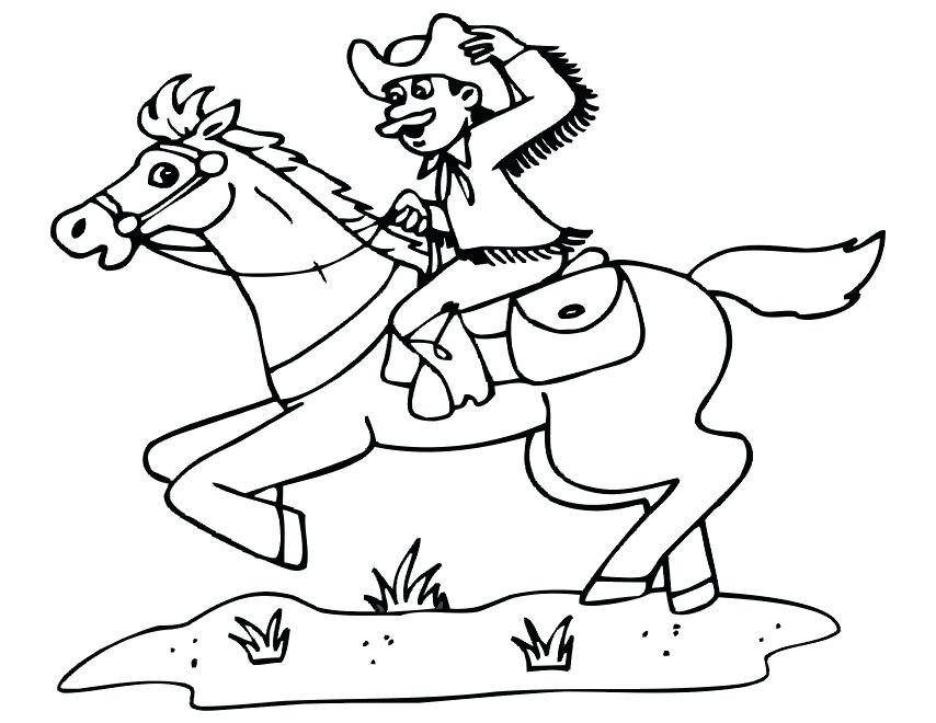 854x660 Team Roping Coloring Pages