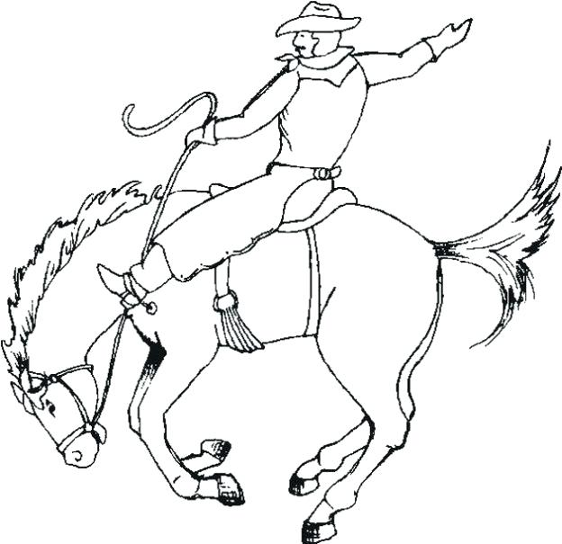 624x605 Bull Riding Coloring Pages Free Cowboy Characters Printable