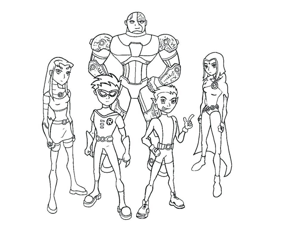 960x800 Teen Titans Coloring Pages Free Preschool Teen Titans Coloring