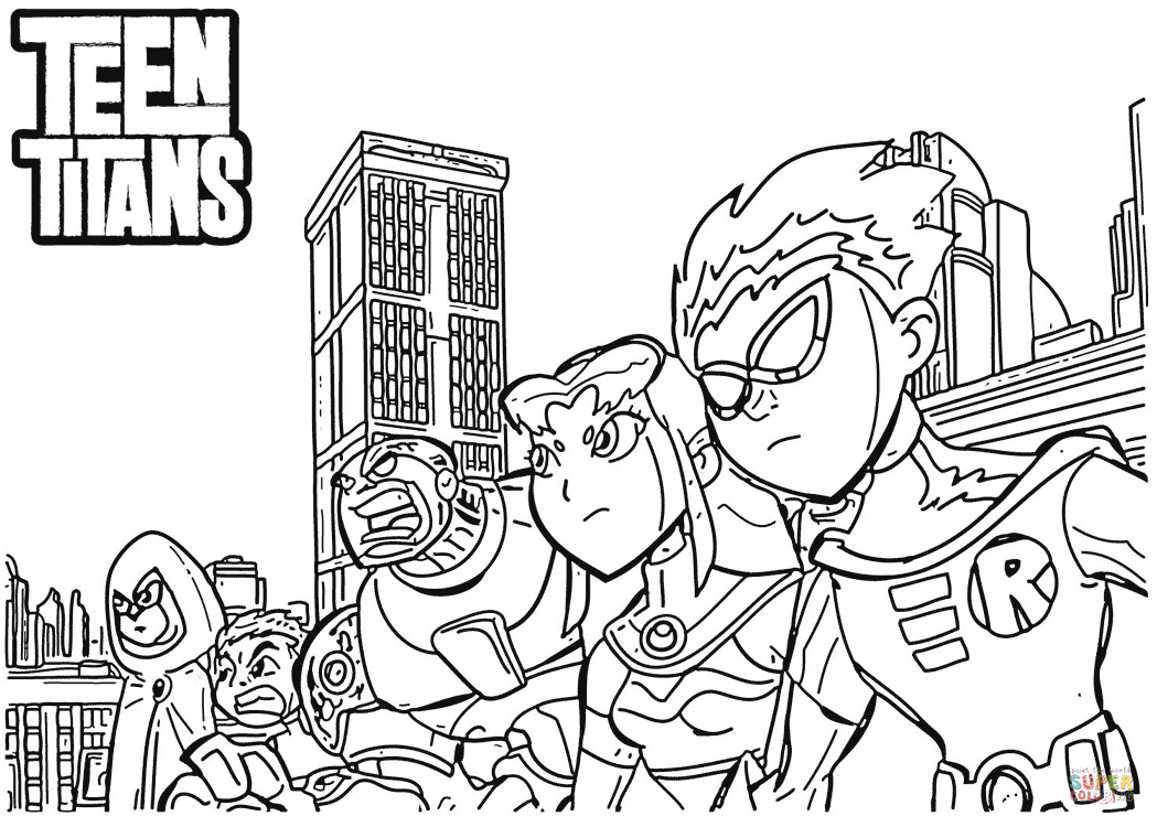 1049x750 Teen Titans Coloring Page Free Printable Coloring Pages Teen