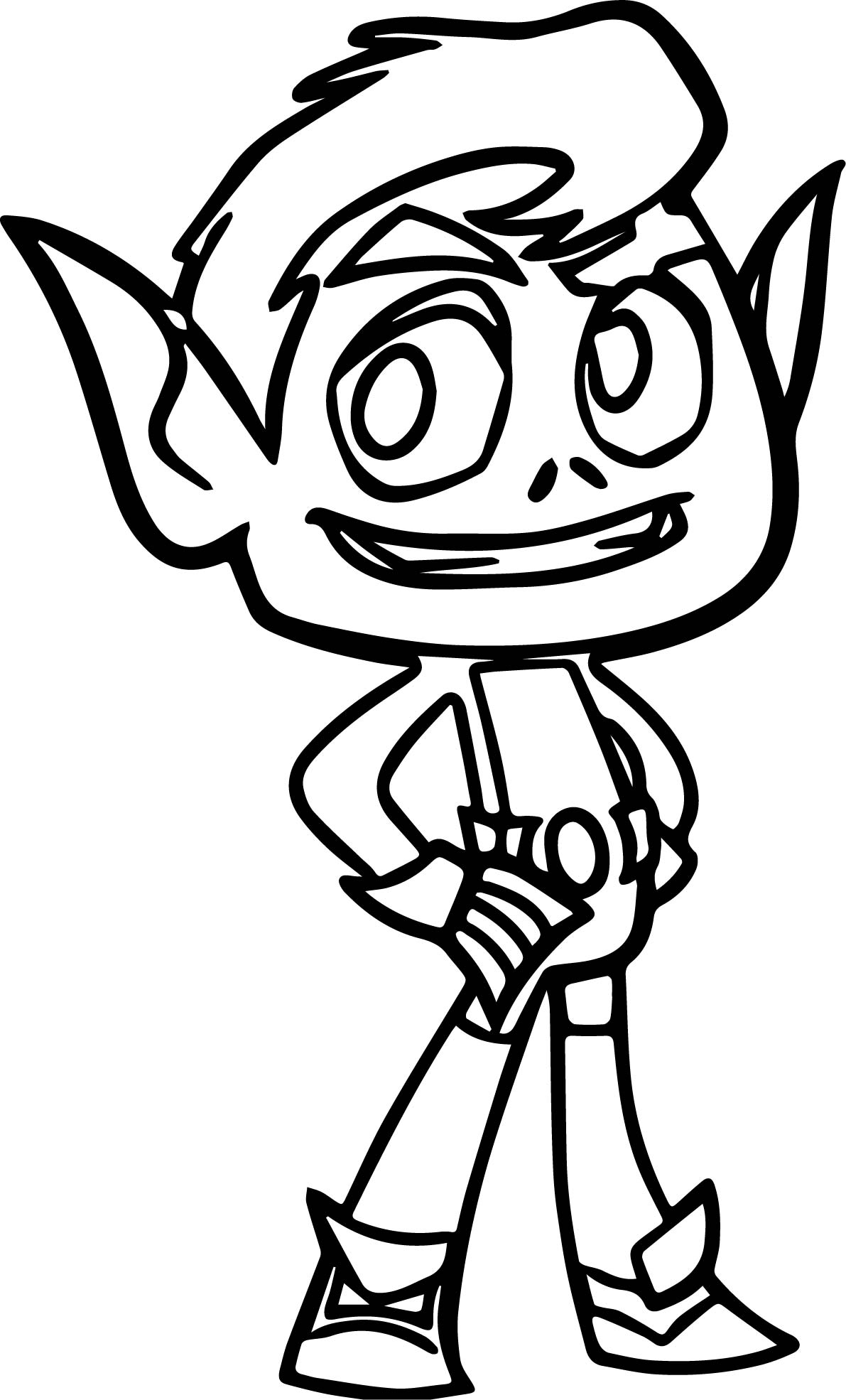 1191x1970 Teen Titans Go Beast Boy Good Coloring Page Wecoloringpage