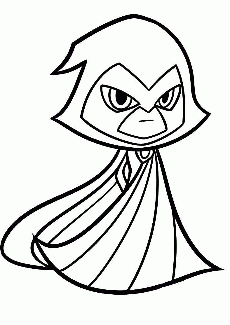 788x1114 Teen Titans Go Coloring Pages Lovely Raven From Teen Titans Go