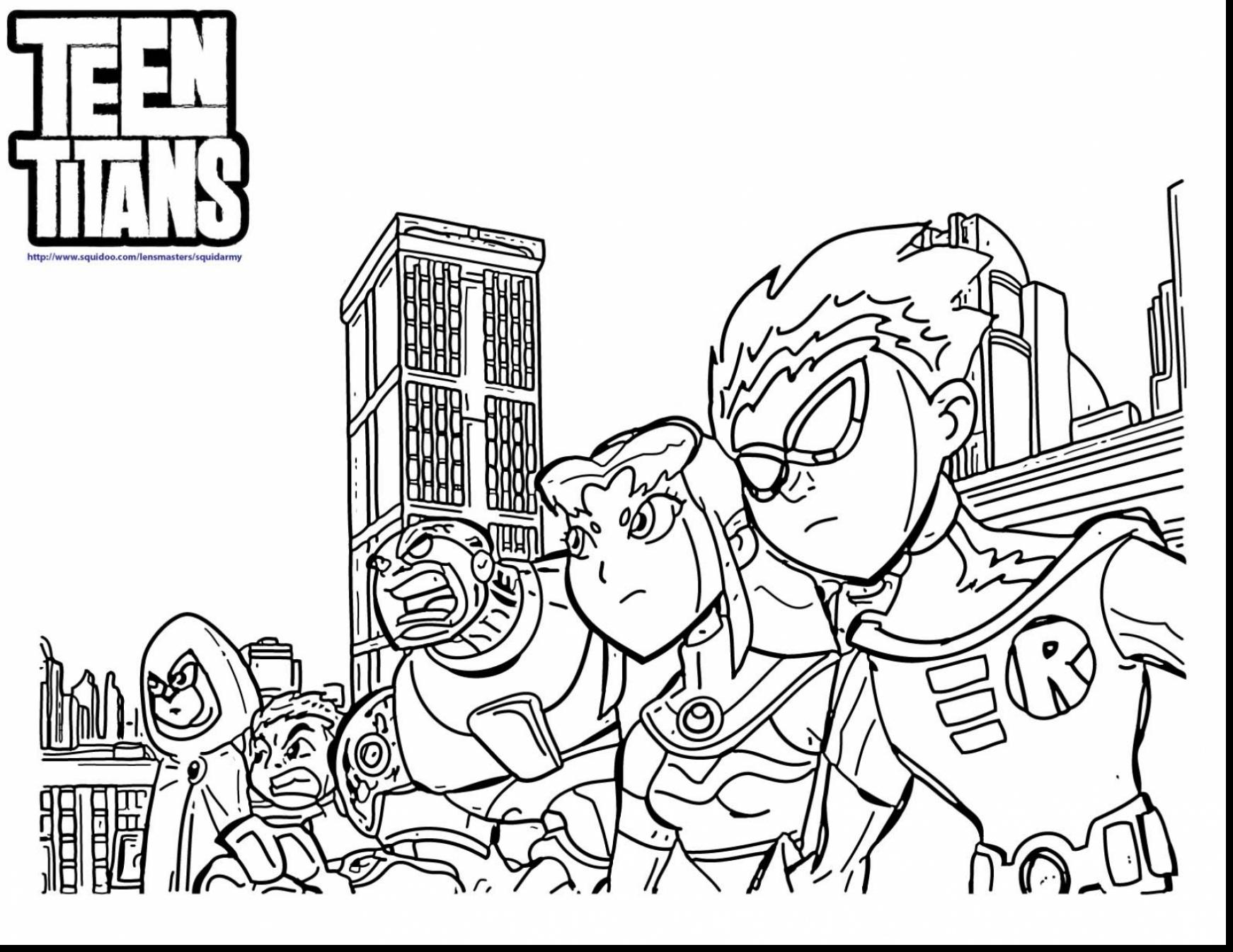 Team Titans Go Coloring Pages at GetDrawings.com | Free for ...