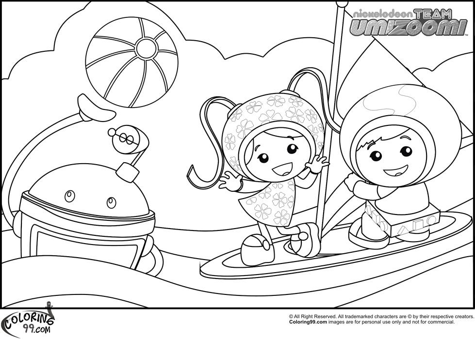 979x700 Team Umizoomi Coloring Pages Team Colors
