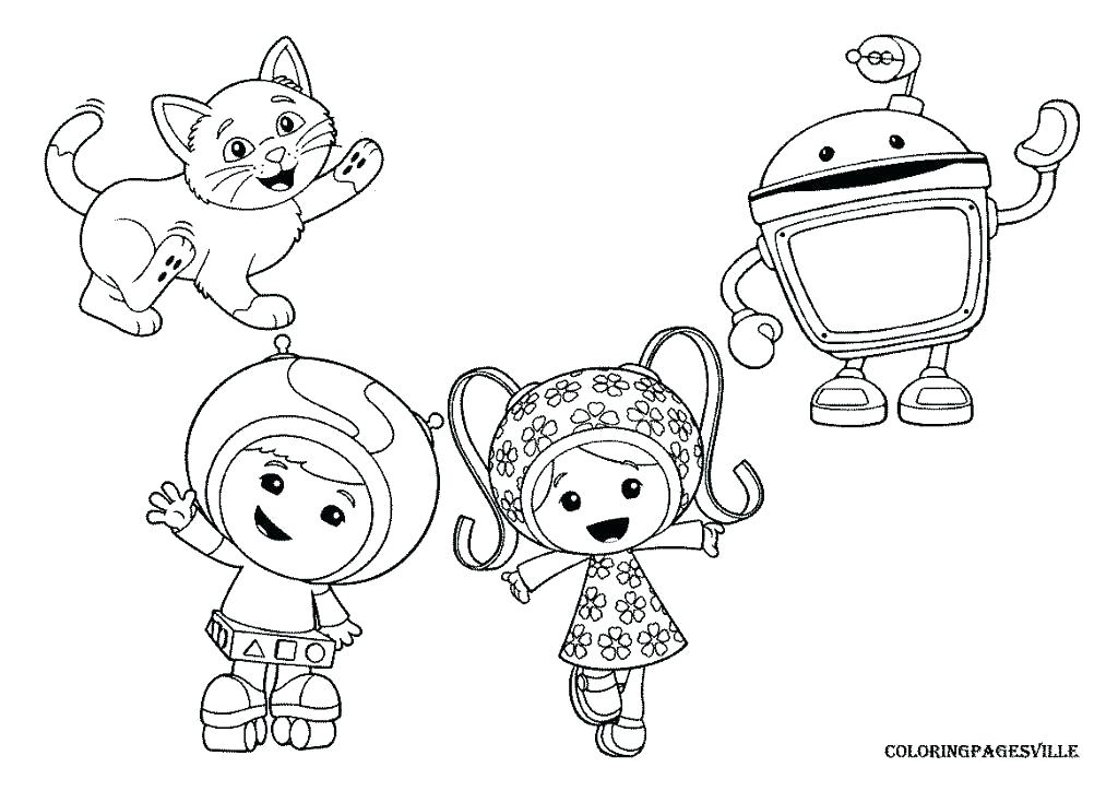 1024x724 Umizoomi Coloring Page Team Coloring Pages Printable Umizoomi