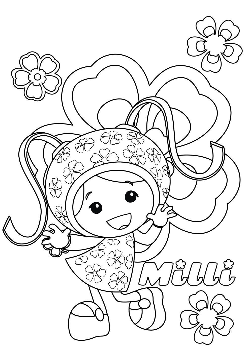 980x1374 Free Printable Team Umizoomi Coloring Pages For Kids