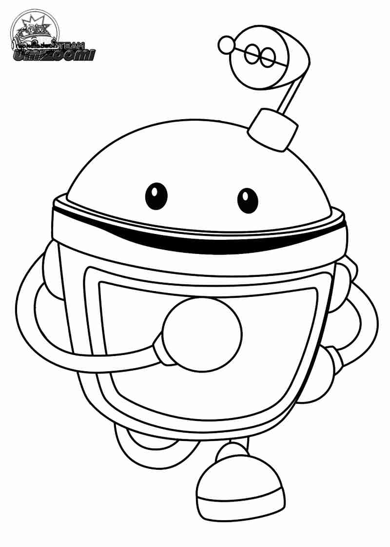 800x1120 Free Team Umizoomi Coloring Pages Printable Marty Line Art Tearing
