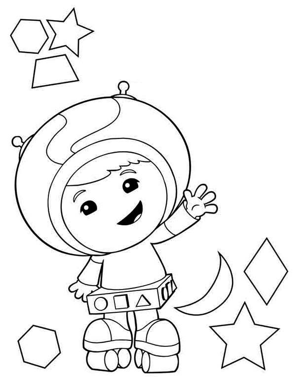 600x763 Geo The Shape Expert In Team Umizoomi Coloring Page Color Luna