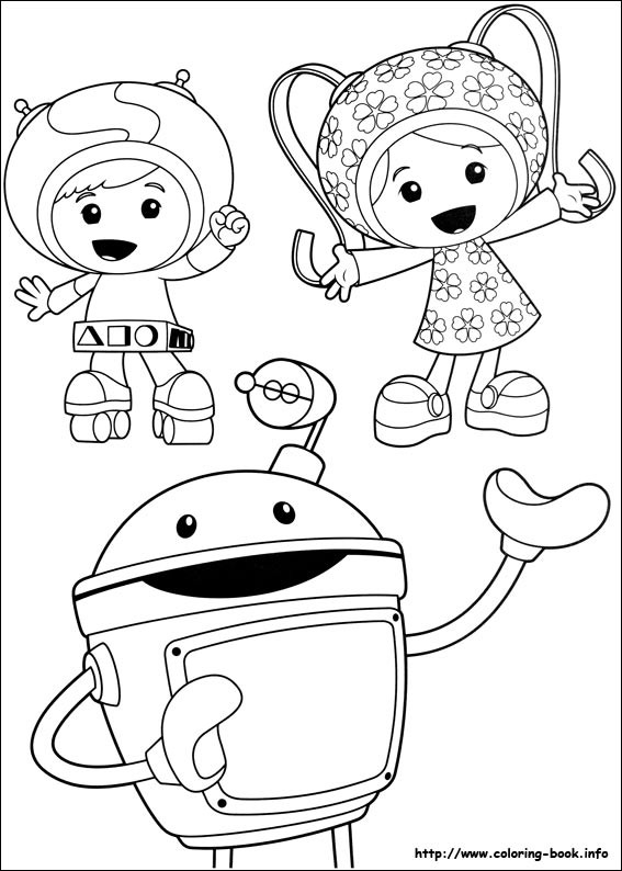 567x794 Team Umizoomi Coloring Pages Free Awesome Team Umizoomi Vector