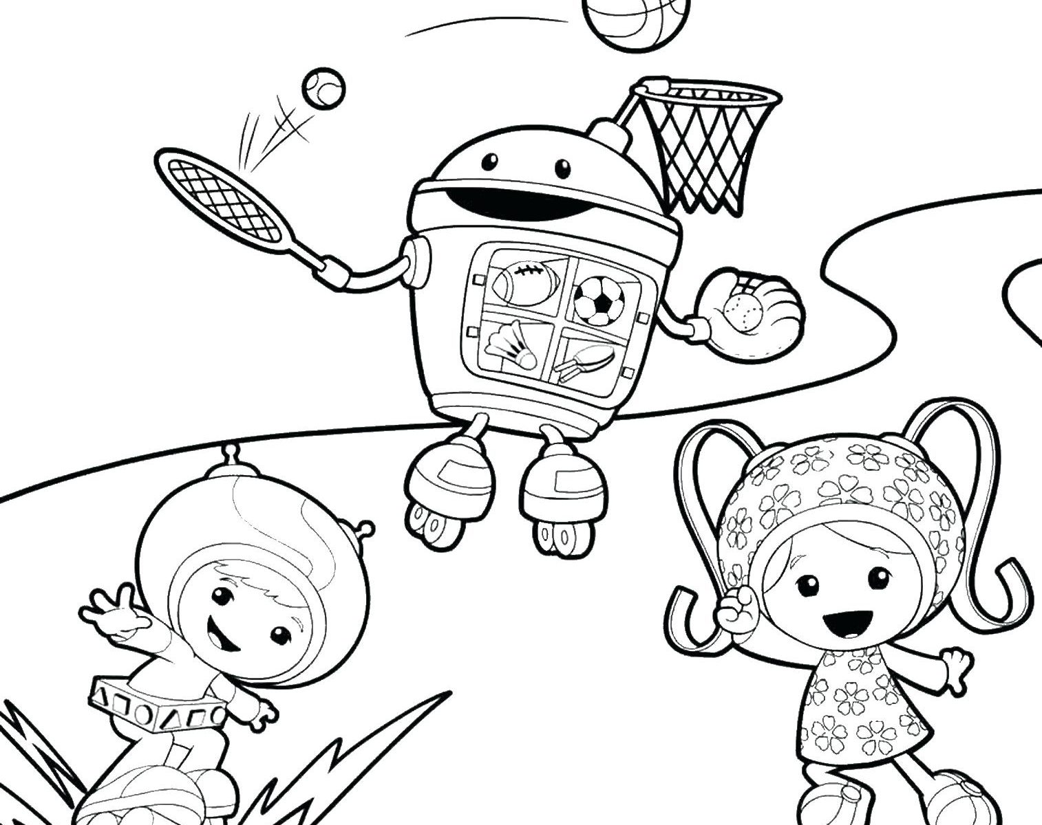 1514x1200 Team Umizoomi Coloring Pages To Print Gulfmik Page Printable