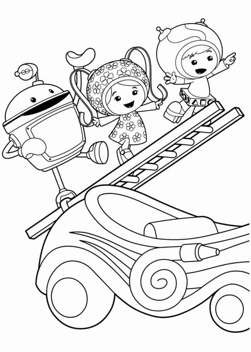 850x1190 Team Umizoomi Coloring Pages Pdf Free At Prepossessing Team