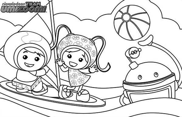 600x387 Team Umizoomi Get Sail With Bot Coloring Page Color Luna