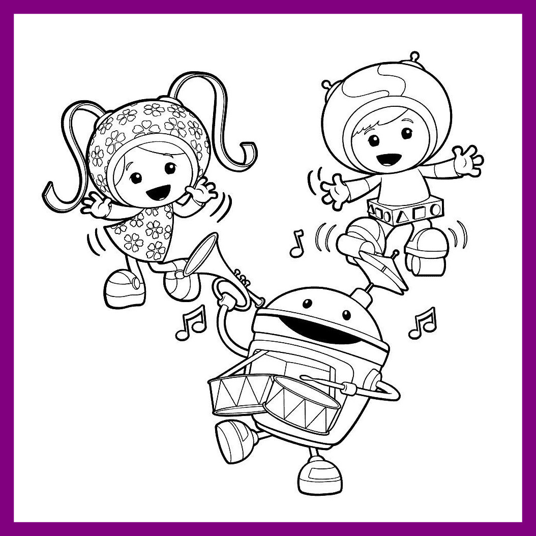 1054x1054 Best Printable Team Umizoomi Coloring Pages For Kids Car Styles