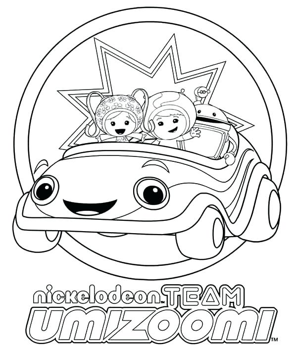 600x705 Coloring Pages Team Coloring Pages Free Umizoomi Car Coloring