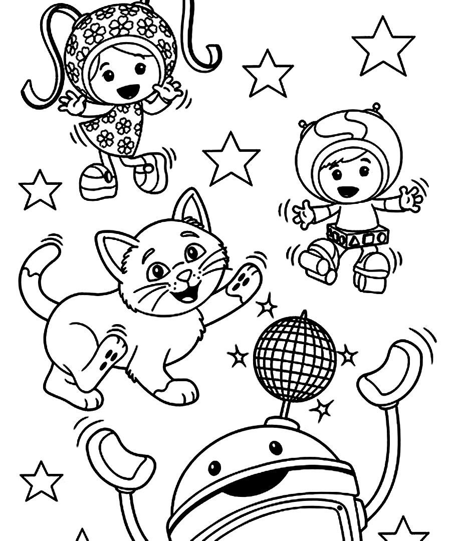 900x1080 Shocking Printable Team Umizoomi Coloring Pages For Kids Within