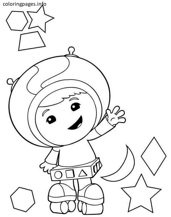 600x763 Umizoomi Coloring Pages Beautiful Team Umizoomi Geo Coloring Pages