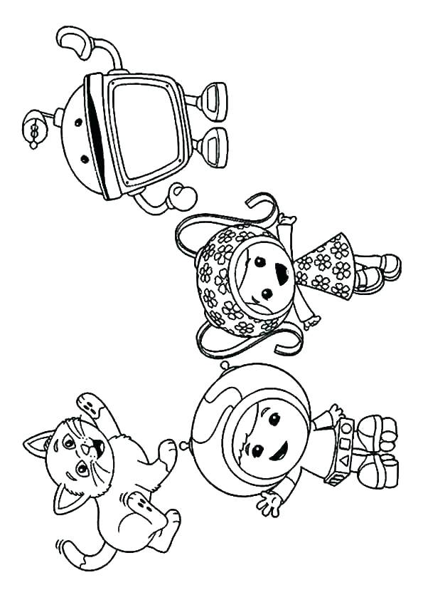 595x842 Umizoomi Coloring Pages Printable Team Coloring Pages Playing