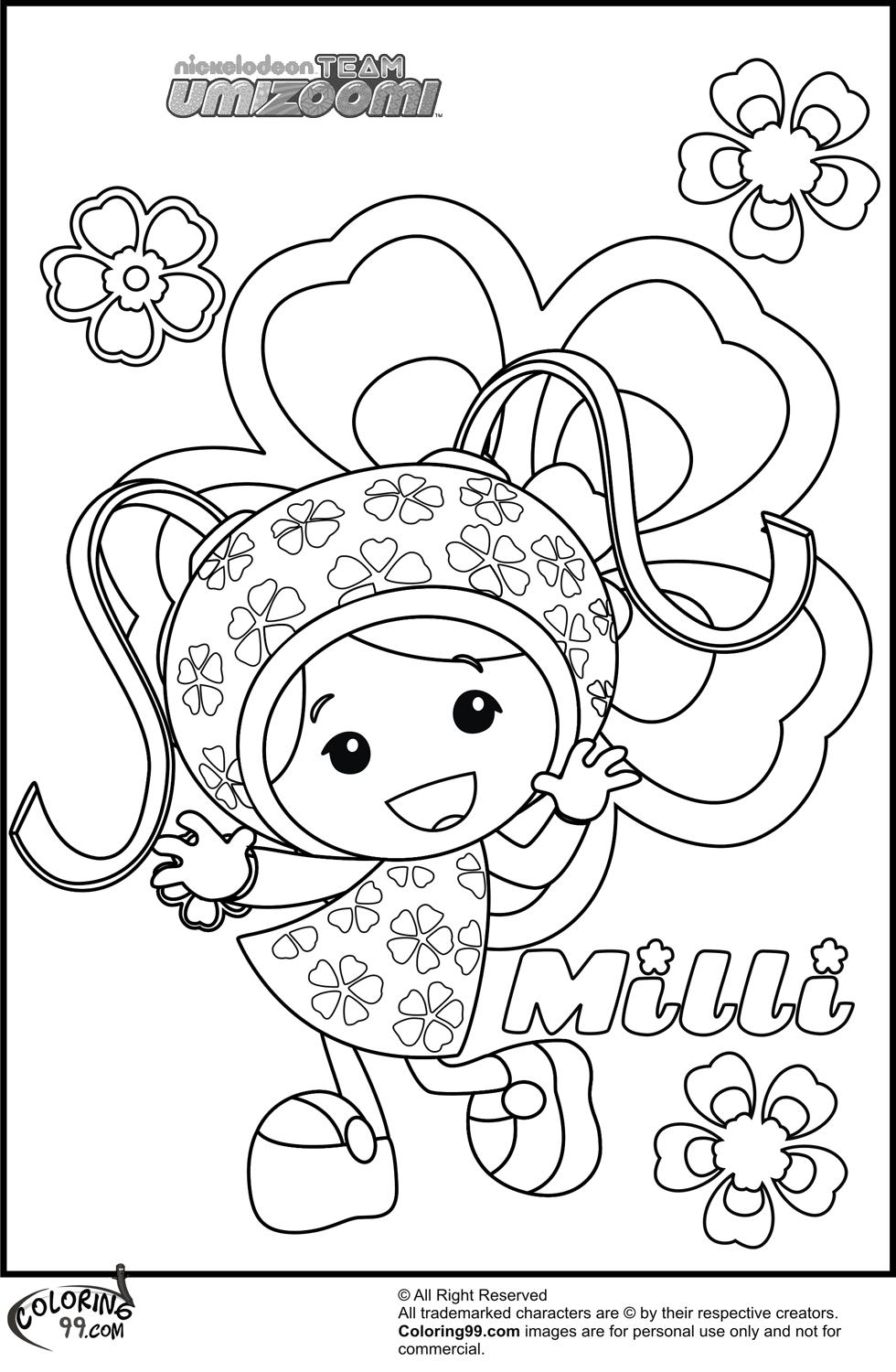 980x1500 Free Team Umizoomi Coloring Pages Printable Entrancing