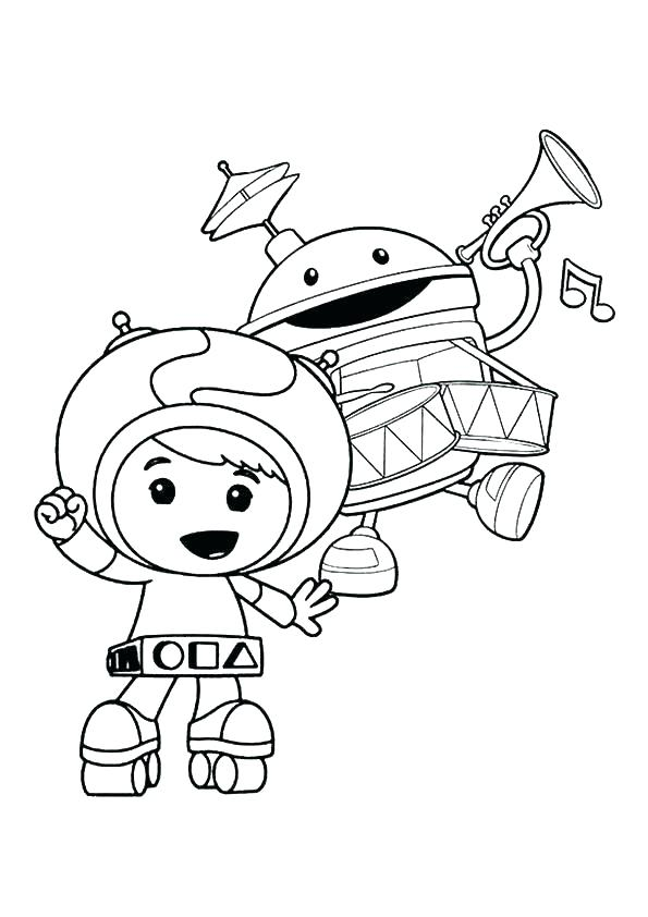 595x842 Geo Team Umizoomi Coloring Pages Printable Nickelodeon Page
