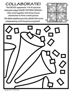 236x305 Radial Symmetry Collaborative Activity Coloring Pages Symmetry
