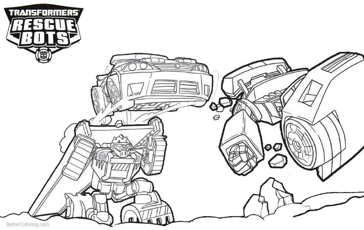 1200x760 Transformers Rescue Bots Coloring Pages Teamwork