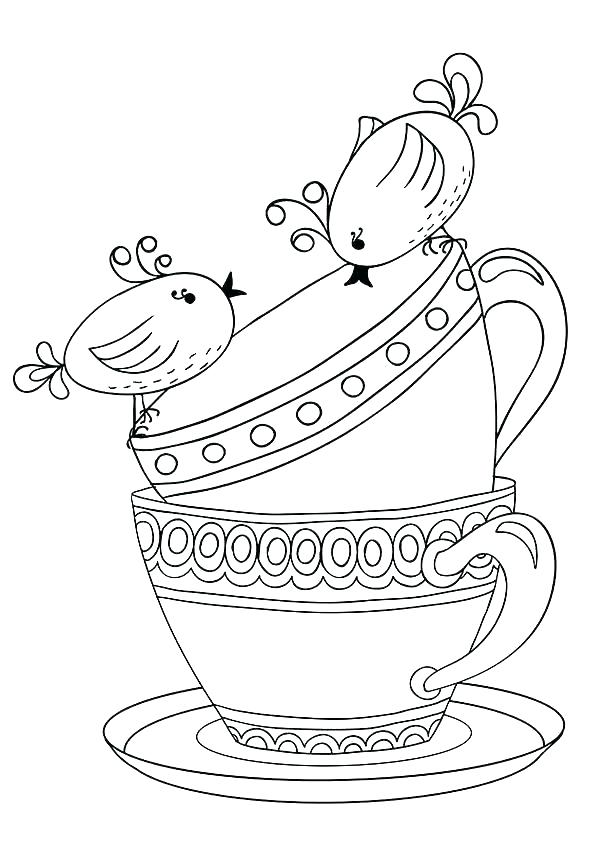 595x842 Tea Cup Coloring Page Teapot Coloring Page Tea Cup Coloring Page
