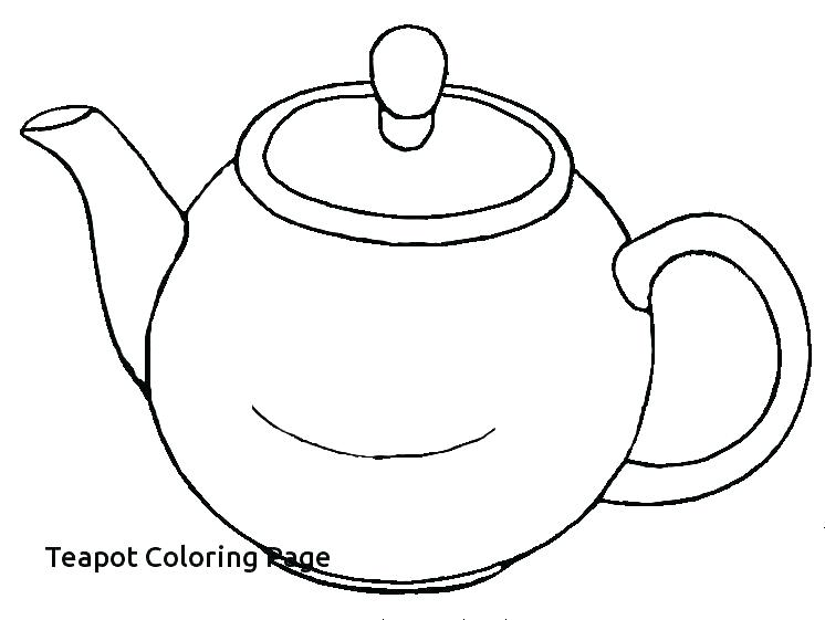 746x561 Cup Coloring Pages Tea Cup Coloring Page Pages Teapot Print
