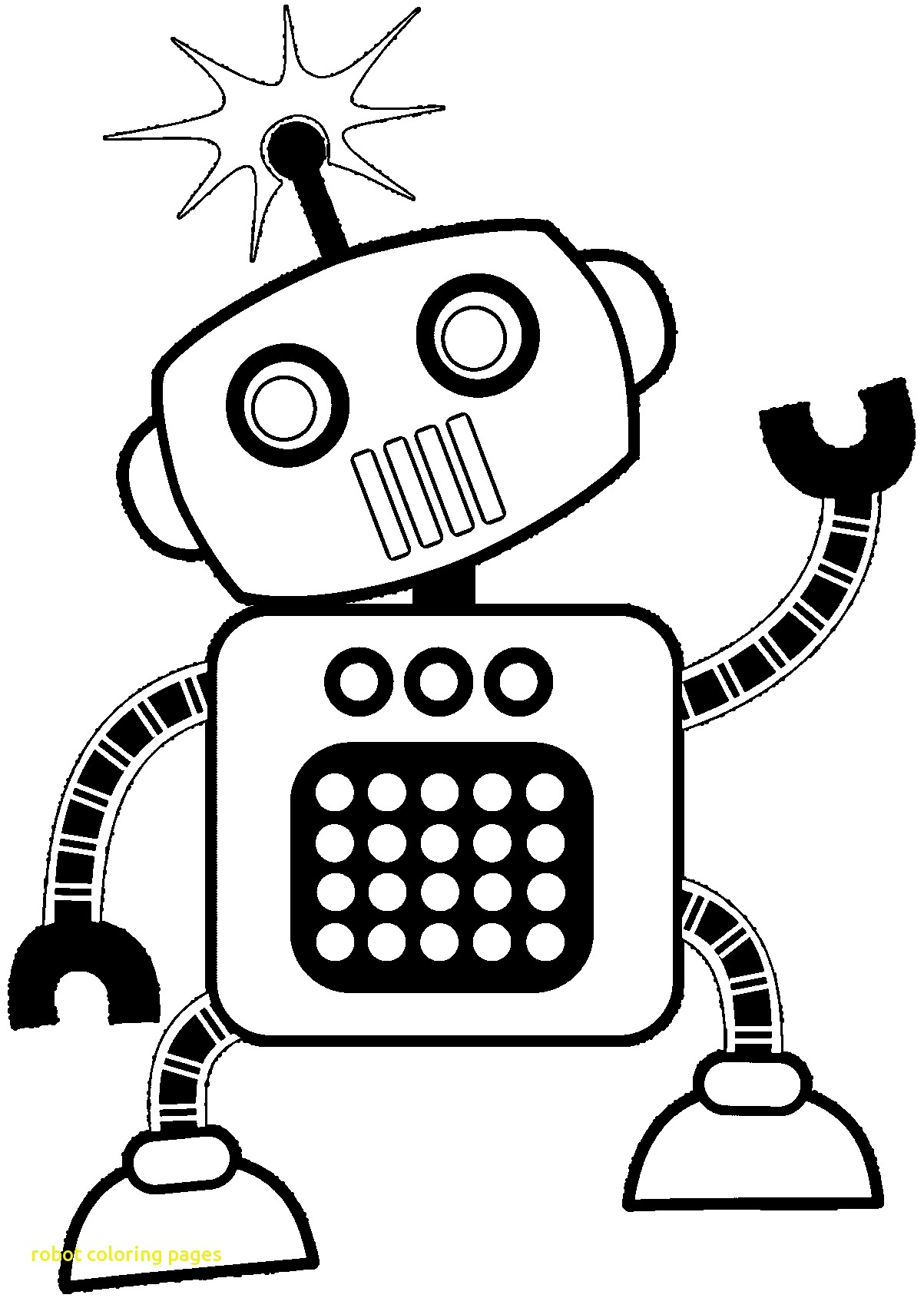 1203x1690 Best Robot Coloring Pages For Coloring For Kids With Robot