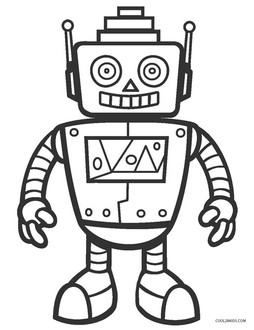 516x670 Free Printable Robot Coloring Pages For Kids