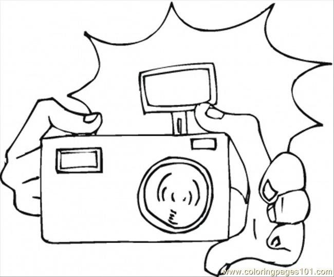 650x539 Camera Coloring Page