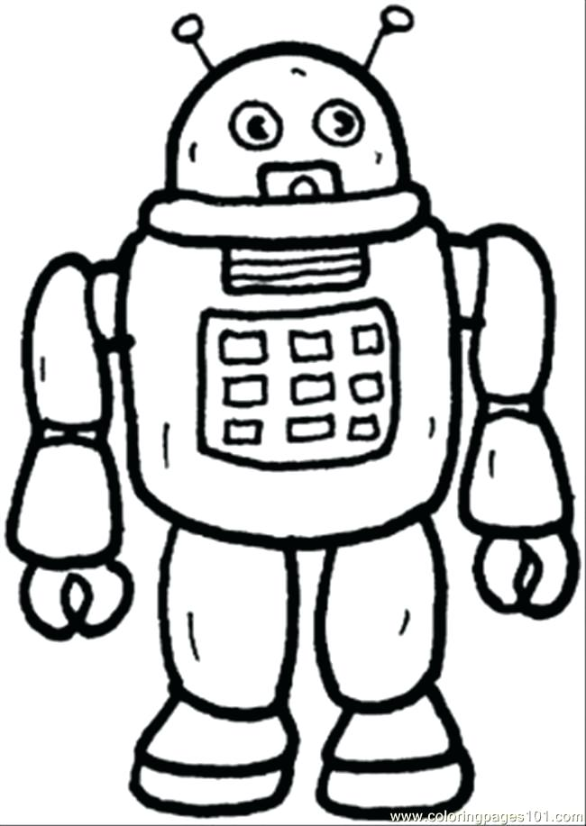 650x917 Technology Coloring Pages Robot From Mars Coloring Page Computer