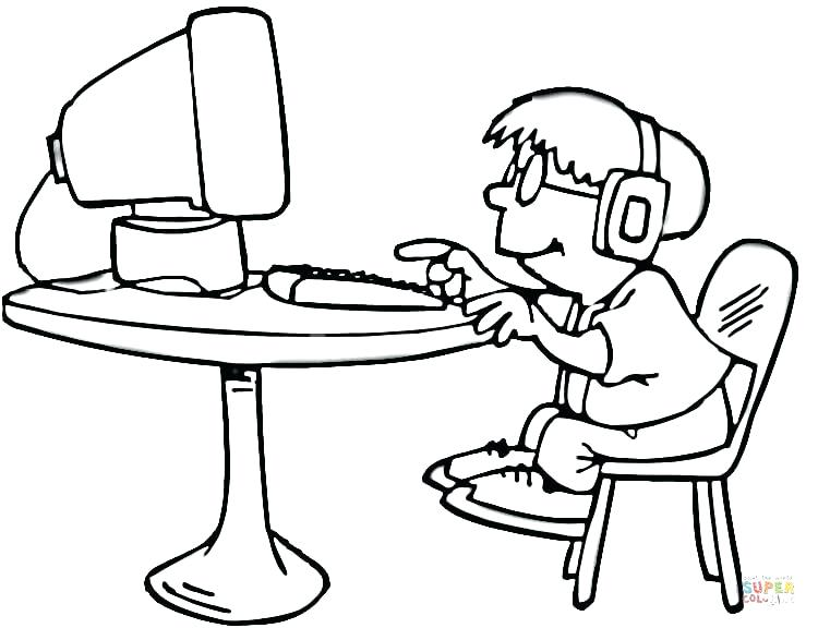 750x576 Coloring Pages Computer Coloring Pages Computer Technology