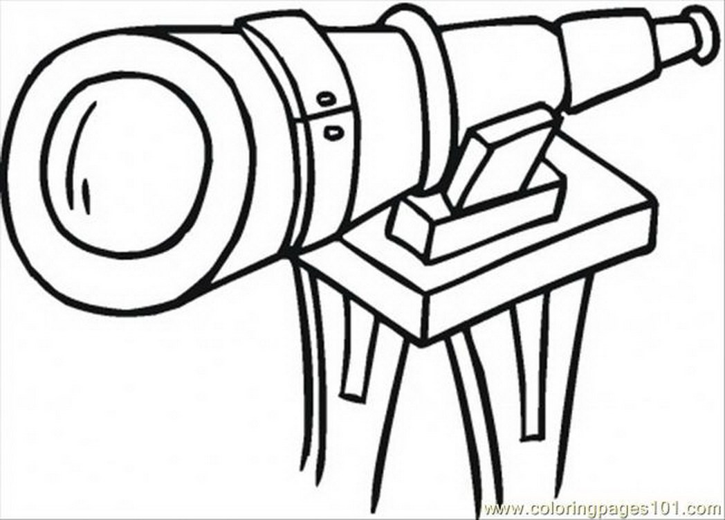 1048x751 Coloring Pages Big Telescope Technology Optical Free Printable