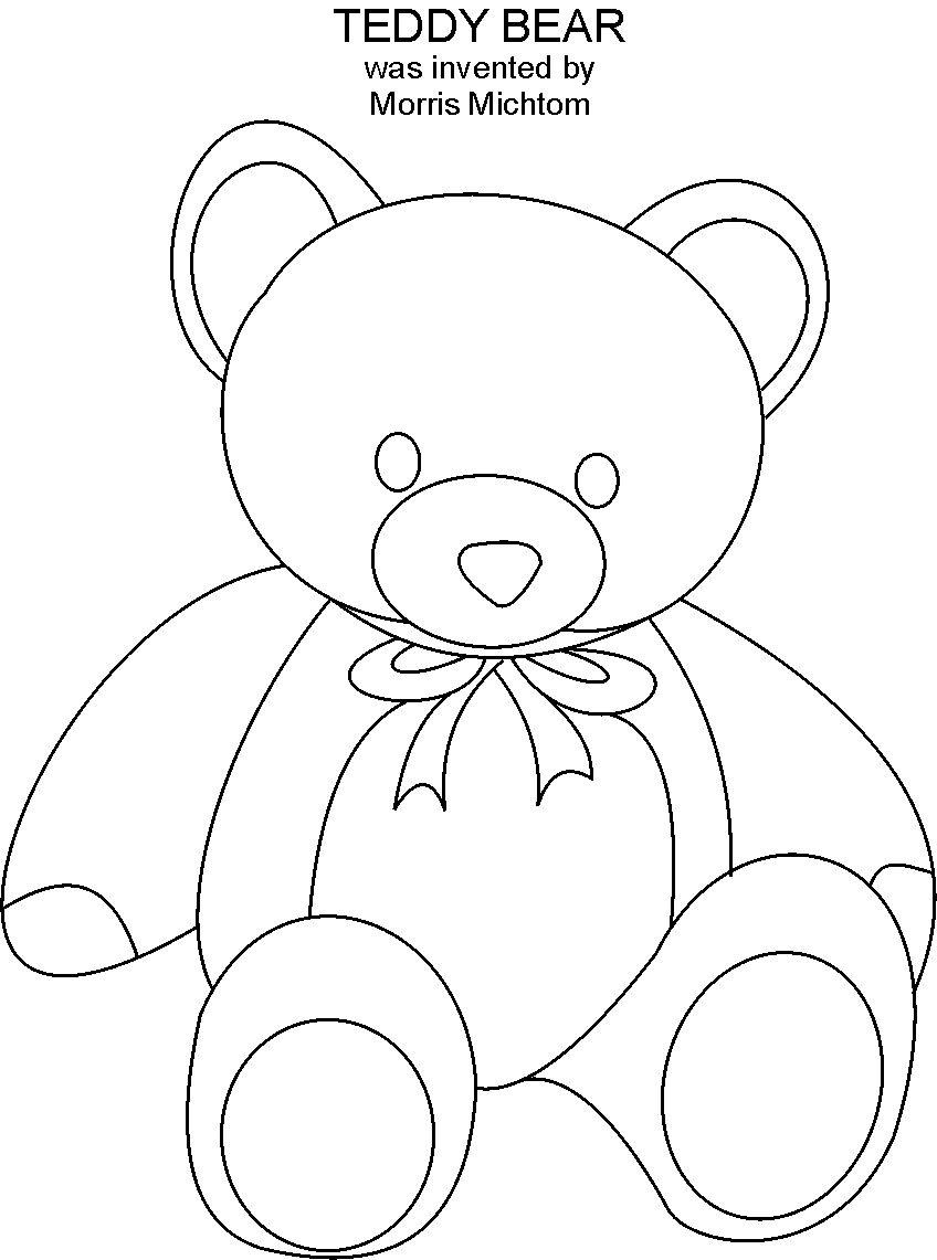 Teddy Bear Coloring Pages At Getdrawings Com Free For Personal Use