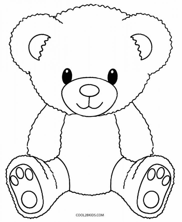 728x891 Teddy Bear Colouring Pages Free Coloring Page Zone