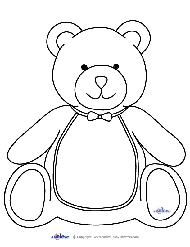 612x792 Printable Teddy Bear Coloring