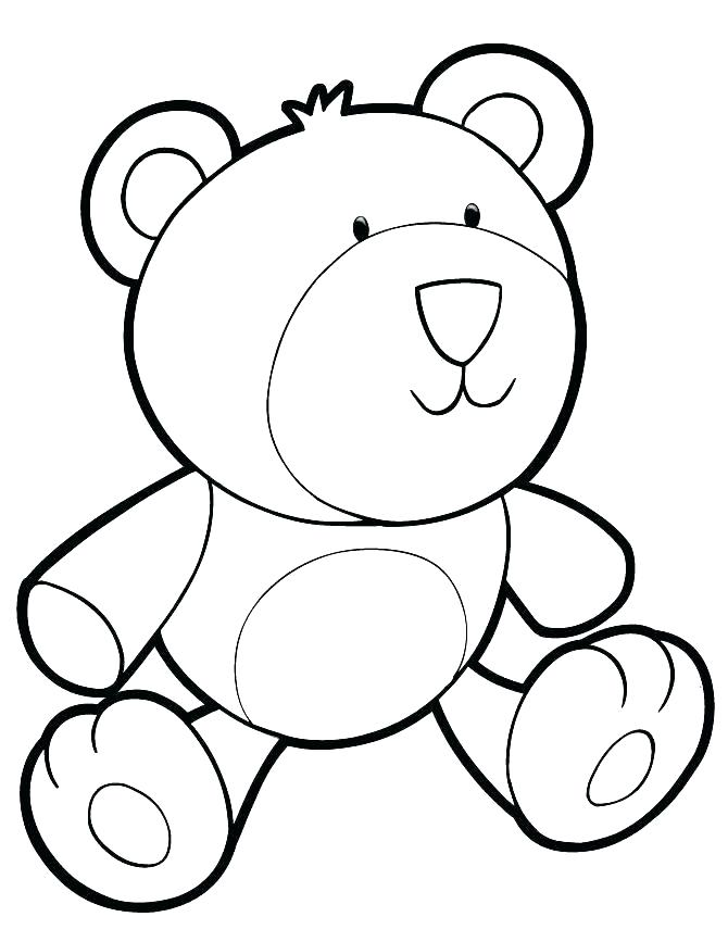 670x867 Teddy Bear Coloring Pages Free Printable Coloring Page Of A Bear