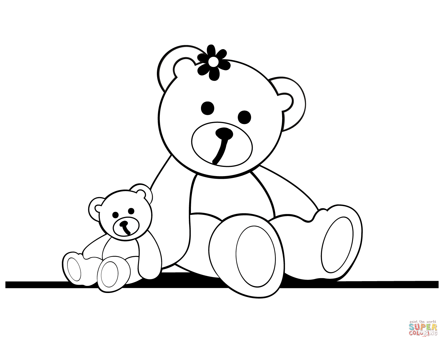 1500x1159 Top Teddy Bear Coloring Pages Free Printable Cartoons Christmas