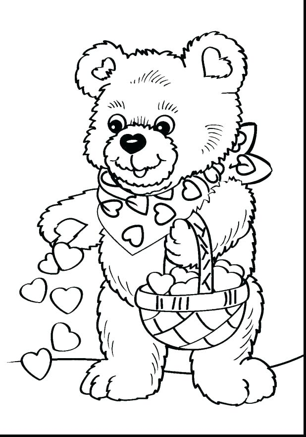 618x881 Color Pages Free Teddy Bear Coloring Pages Free Printable