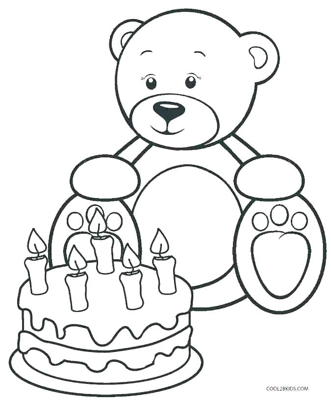 675x820 Teddy Bear Colouring Images